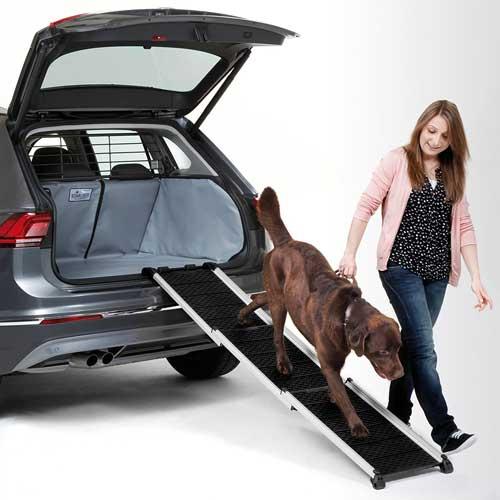 Kleinmetall-Einstiegshilfe-Hunderampe-Auto