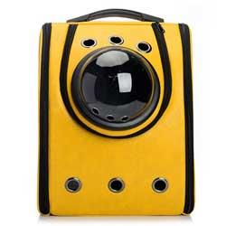 Der Raumkapsel Rucksack in der Farbe Gelb von der Firma TXXCI ist ein absoluter Hingucker!